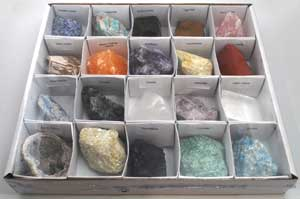 Flat Of 20 Stones And Crystals