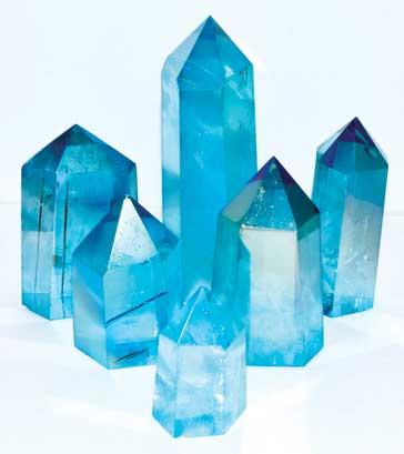 1 Lb Angel Blue Crystal Points