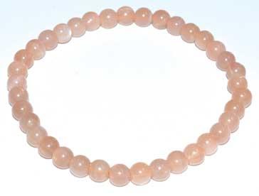 5-7mm Peach Moonstone Bracelet