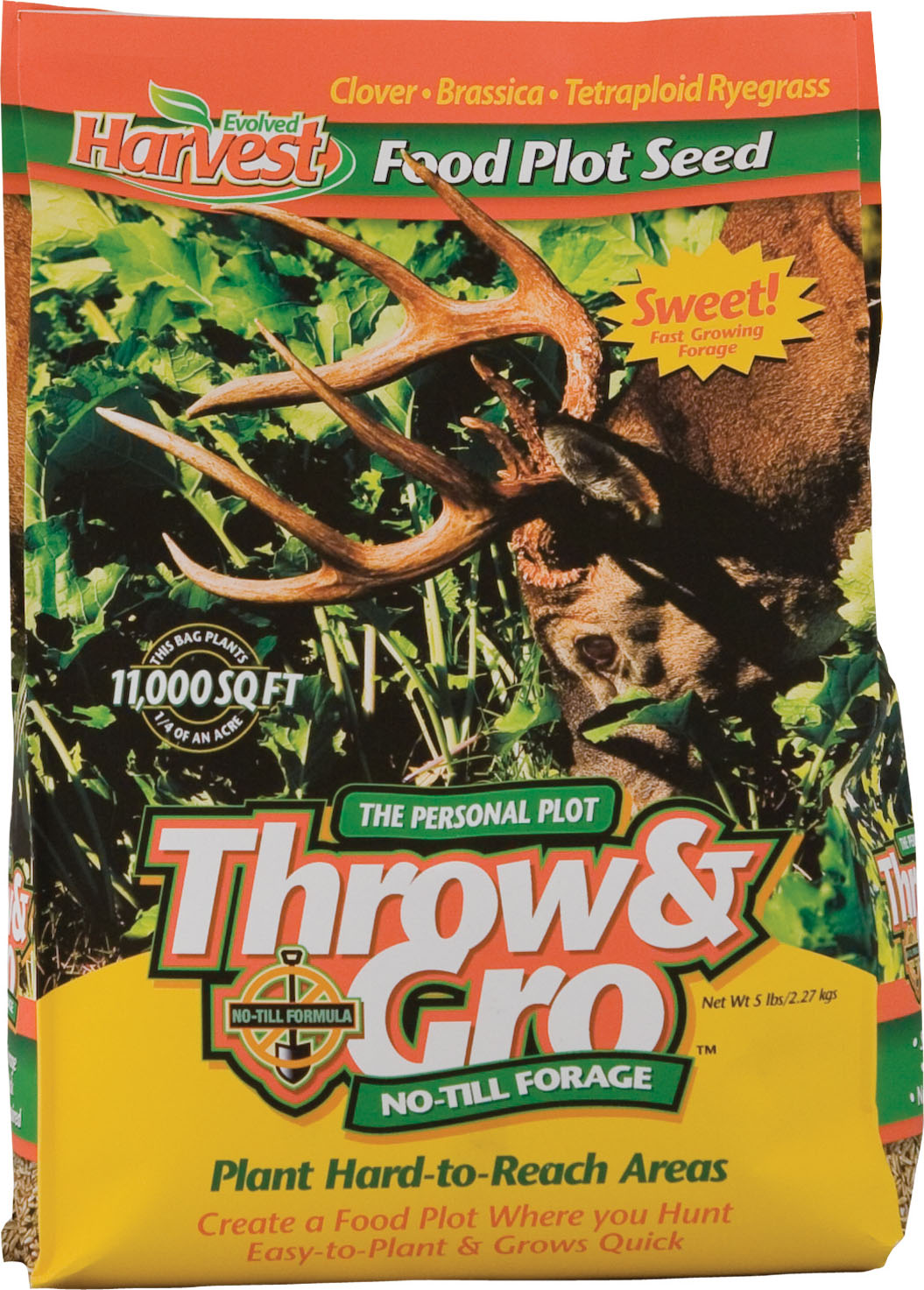 Evolved Harvest 70505 5 lb Throw /& Gro Deer Plot No Till Forage Seed Mix