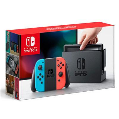 Nintendo Switch with Neon Joy Con