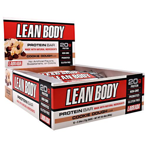Labrada Nutrition Lean Body Protein Bar Cookie Dough - Gluten Free