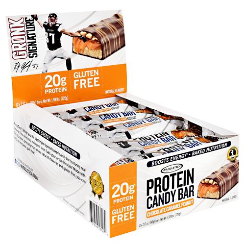 Muscletech Gronk Signature Protein Candy Bar Chocolate Caramel Peanut - Gluten Free