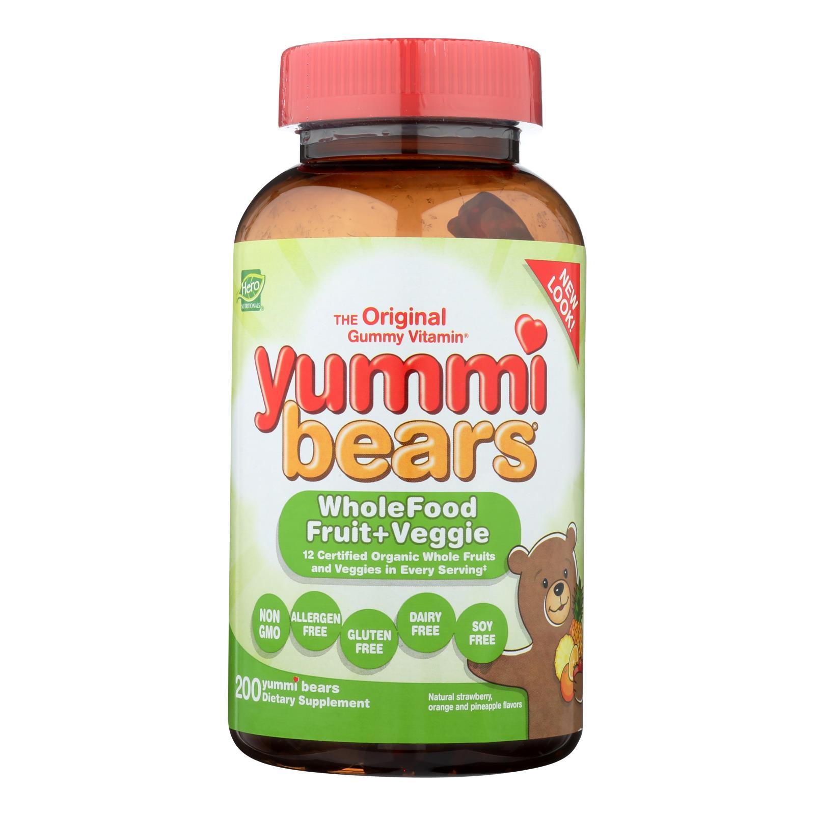Hero Nutritionals Yummi Osos Todo Suplemento Alimenticio Para Ninos