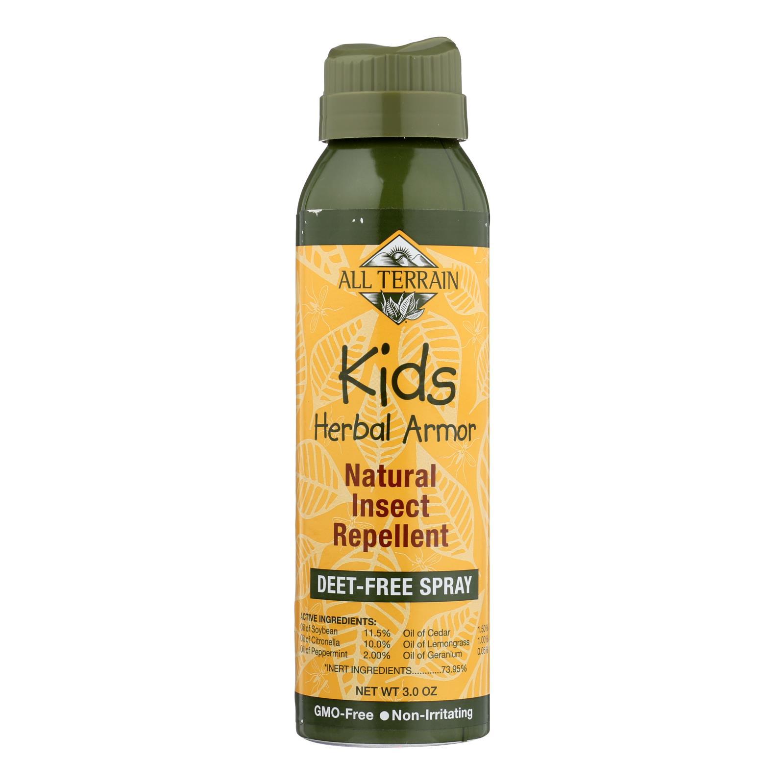 All Terrain Kids DEET-Free Herbal Armor Insect Repellent, 3