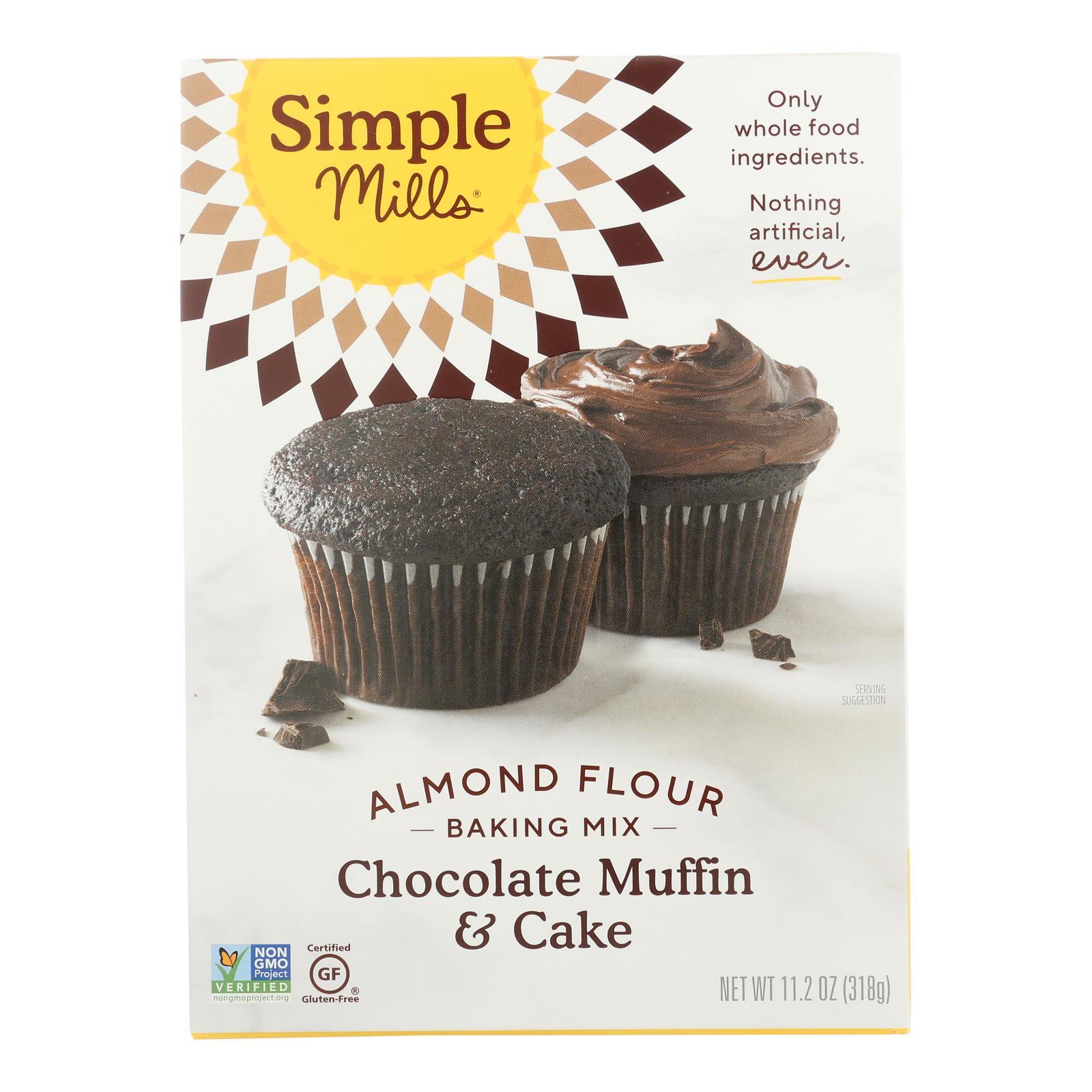 Simple Mills Amande Farine Chocolat muffin et cake Mix-Case of 6 - 10.4 OZ (environ 294.83 g)